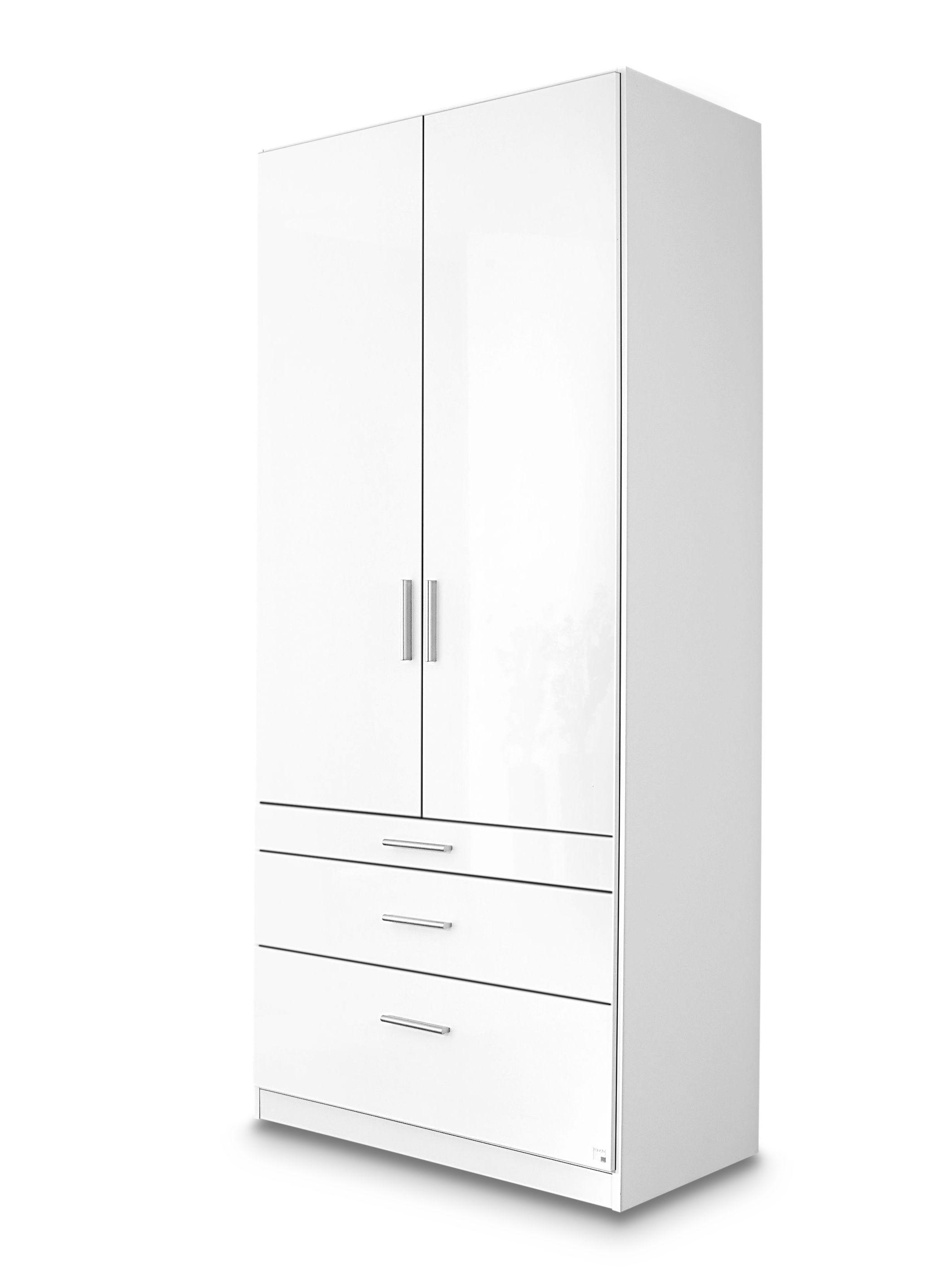 Rauch Möbel Kleiderschrank GENUABHT 91x197x54 cm BHT 91x197x54 cm weiß   eBay